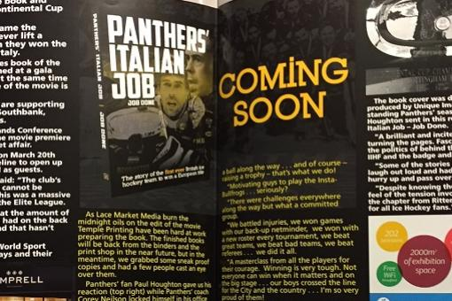Panthers' match magazine - new edition on sale today