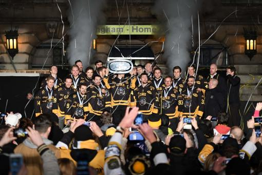 Brilliant Continental Cup celebration with the City