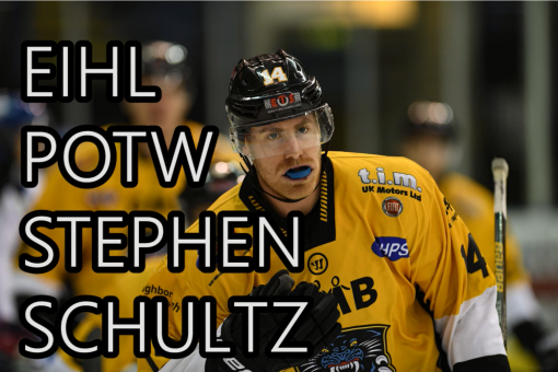 Stephen Schultz is EIHL Player of the week