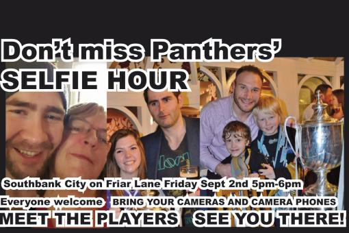 PANTHERS SELFIE HOUR! SEE YOU THERE!