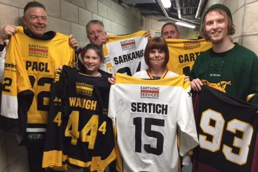 Six happy winners in shirt raffle draw