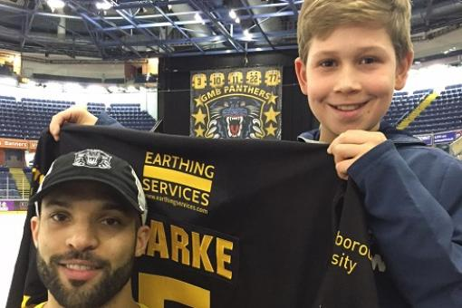 Eleven year old Ty wins Clarkey's shirt