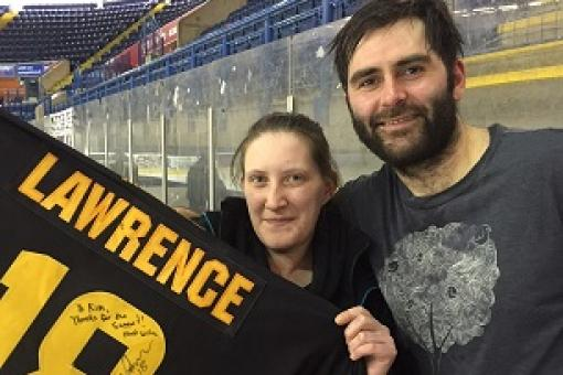 Kim wins Lawrence shirt in latest raffle