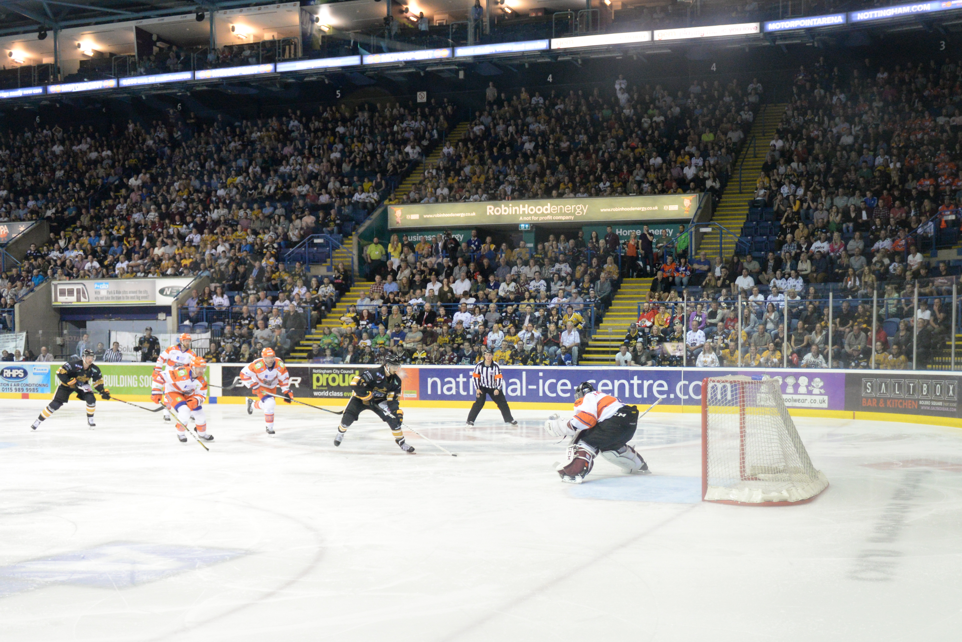 The Nottingham Panthers vs Glasgow Clan: Bowl Half Full Top Image