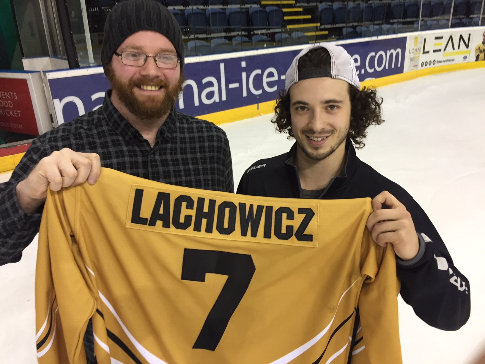First year fan wins Lacho's shirt Top Image
