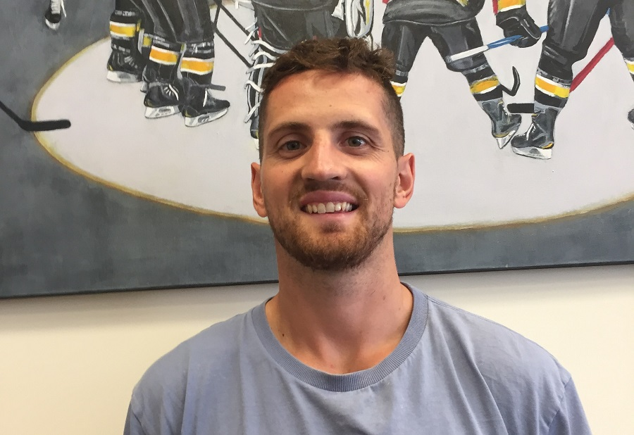 Brett Perlini arrives safe and sound Top Image