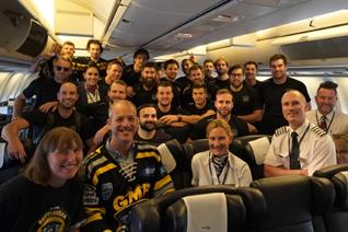 Panthers land safely in Switzerland