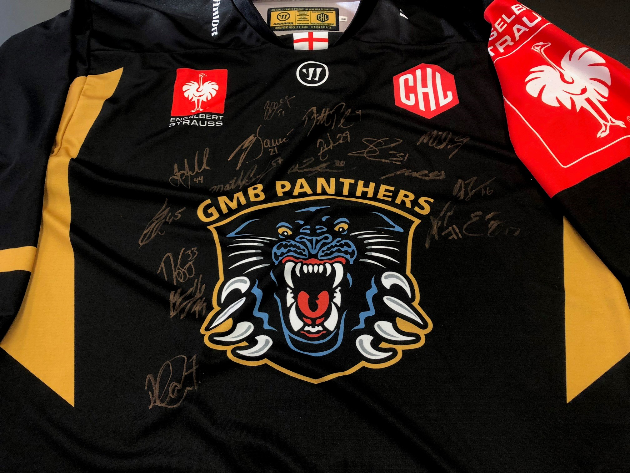 Charity jersey auction ends at £150 Top Image