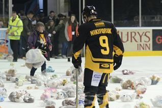Countdown to Teddy Bear Toss Begins