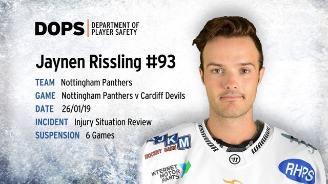 Rissling receives six game ban Top Image