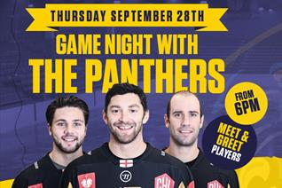 Game night with the Panthers at Shooters