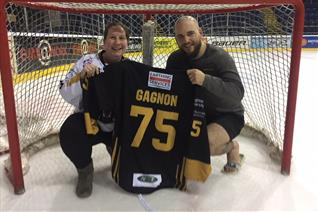 Fan Mel screamed the house down when her ticket won Gagnon's shirt