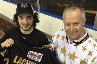 Fan Philip came in a Festive replica shirt and left in Lacho's game worn Number Seven jersey