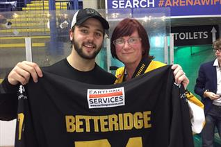 Betteridge jersey won by 12 year fan