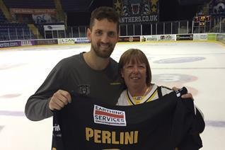 Brett Perlini's jersey goes to long time fan