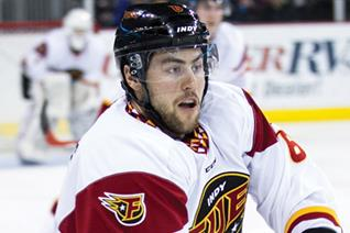 Mathieu Brisebois with former team, the Indy Fuel